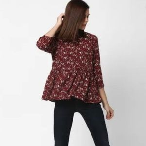 American eagles outfitter floral summer top medium
